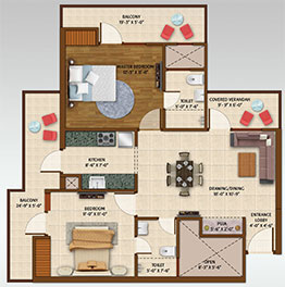 affordable projects in Greater Noida West - floor plan