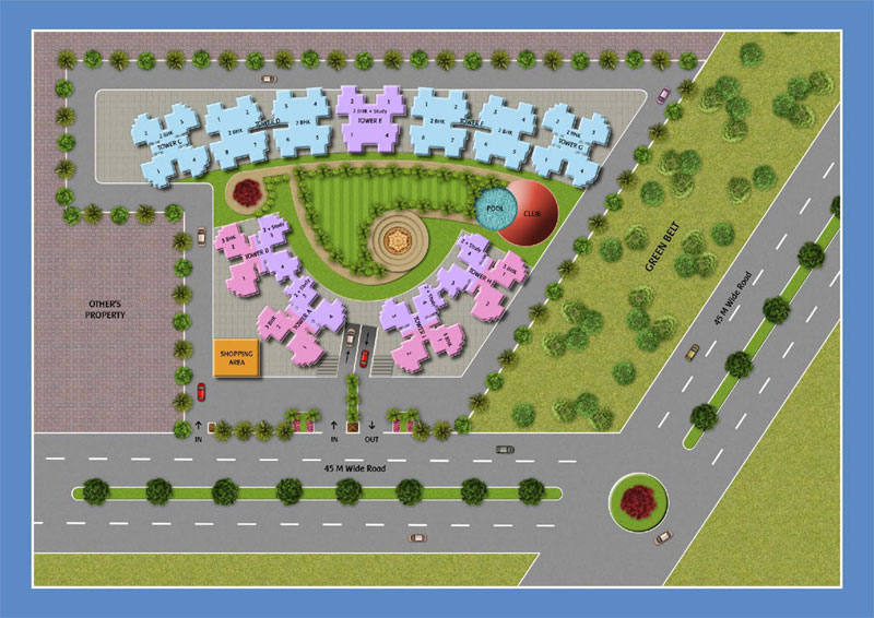 Best Location Project Greater Noida West site plan