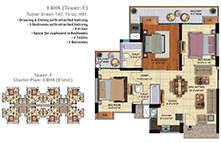 Noida Extension luxurious flat Floor Plan